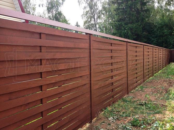 Деревянный забор (плетенка)