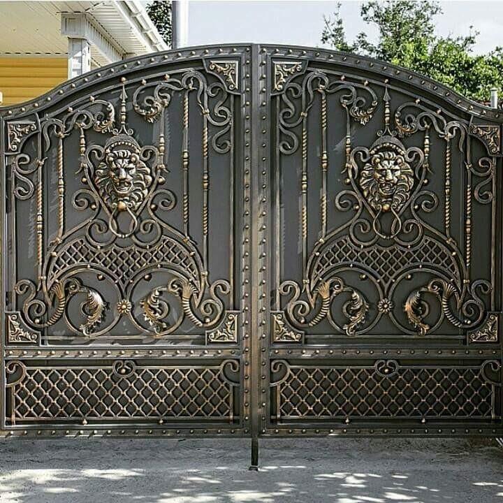 красивые ворота кованые фото