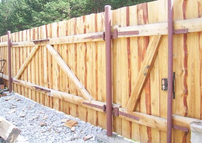 Деревянные ворота и калитки своими руками видео