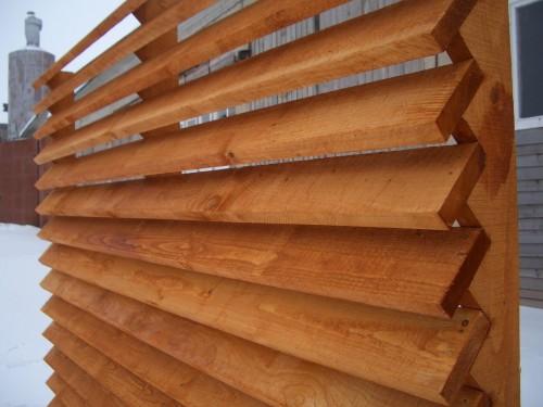 Как сделать забор жалюзи из дерева своими руками видео